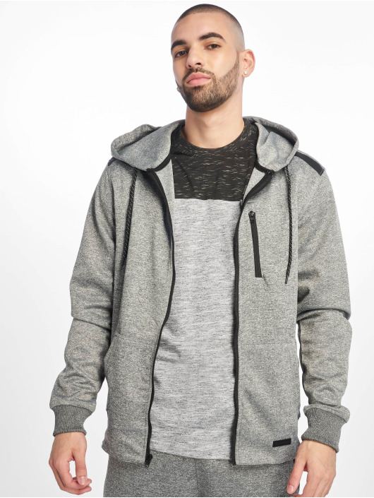 Southpole Zip Hoodie Tech Fleece grå