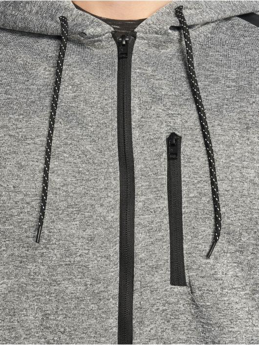 Southpole Zip Hoodie Tech Fleece grau