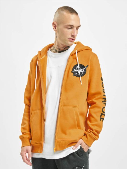 Southpole Zip Hoodie Nasa Insignia Logo oransje