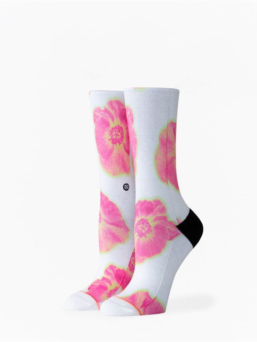 Stance Chaussettes Thermo Floral Crew blanc
