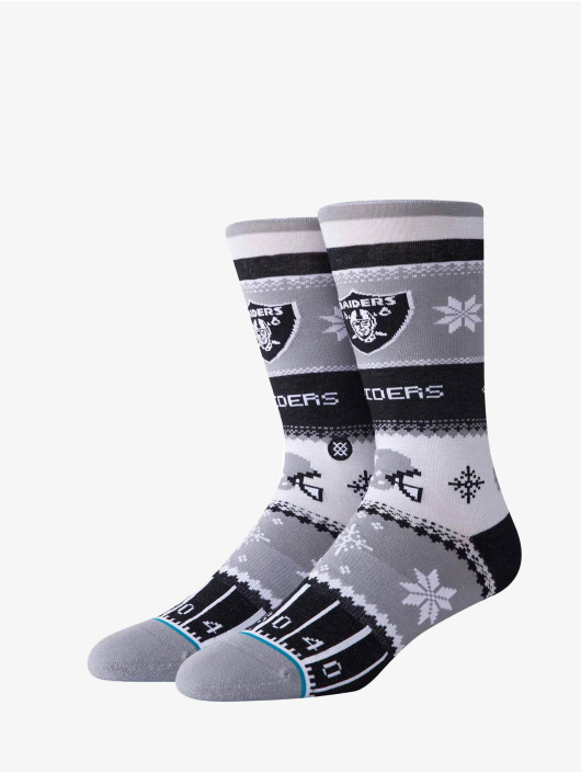 Stance Chaussettes Raiders Holiday Sweater gris