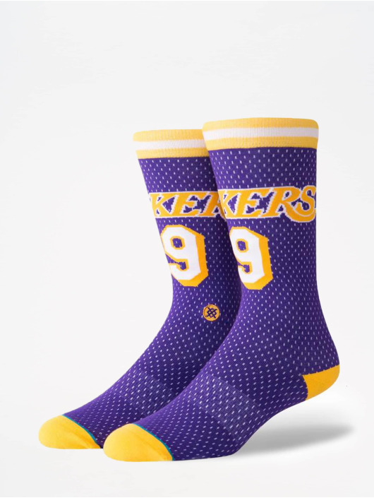 Stance Chaussettes NBA On Court Collection Lakers 94 HWC pourpre