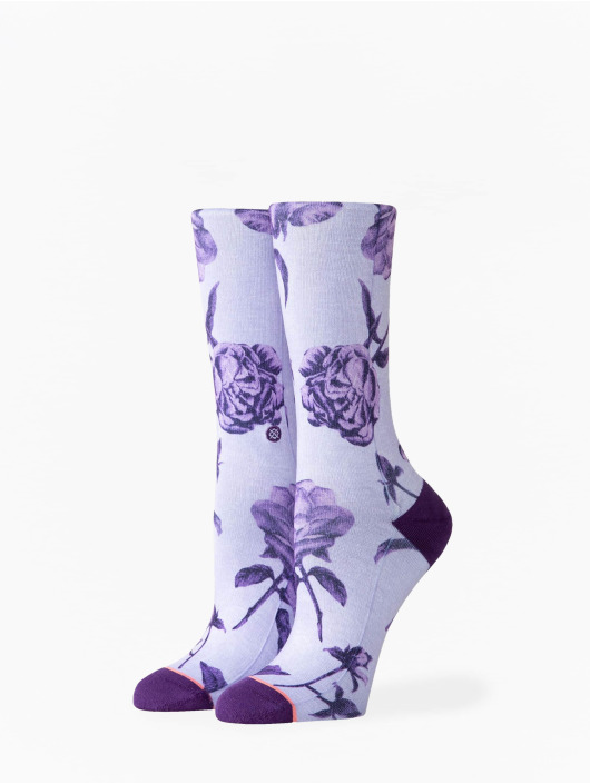Stance Chaussettes Rebel Rose Crew pourpre