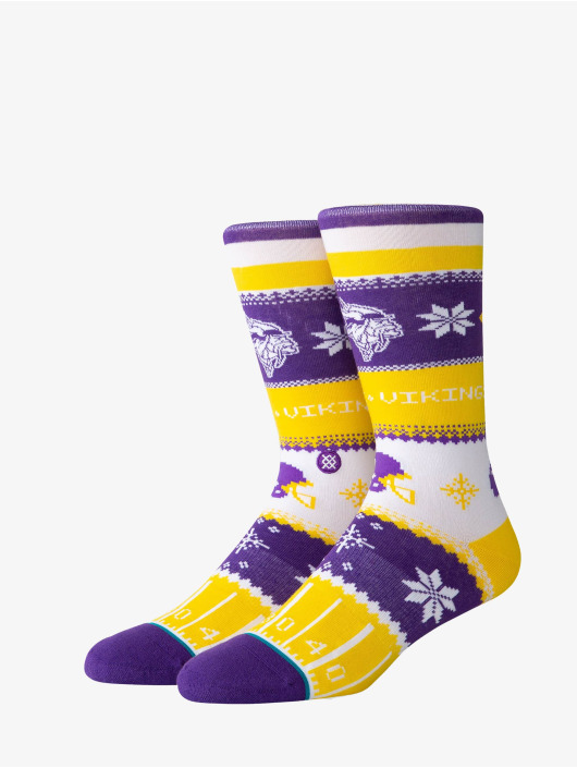Stance Chaussettes Vikings Holiday Sweater pourpre
