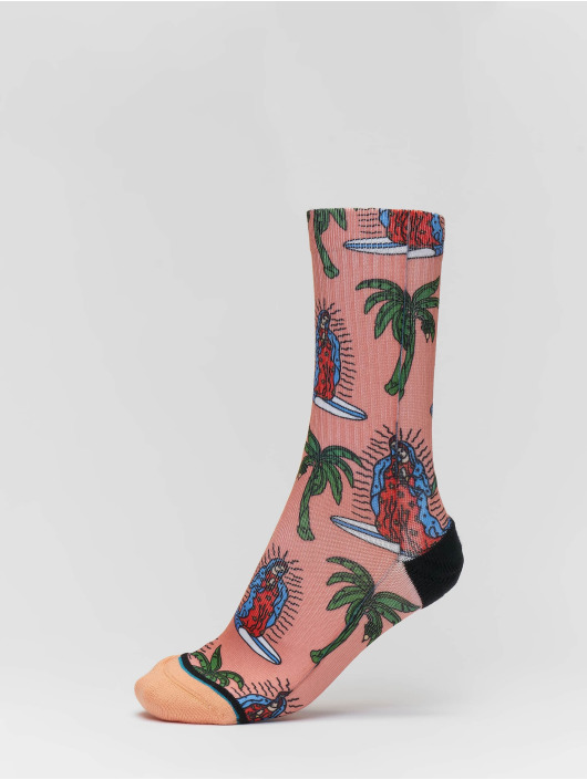 Stance Chaussettes Surfin Guadalupe rose