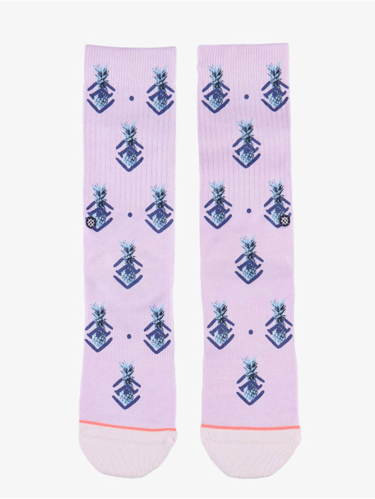 Stance Socks Polka Pineapple purple