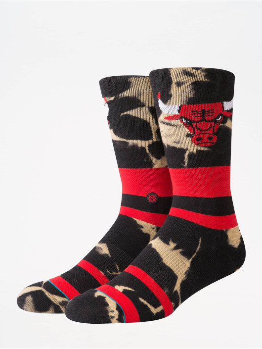 Stance Socks NBA On Court Collection Bulls Acid Wash red
