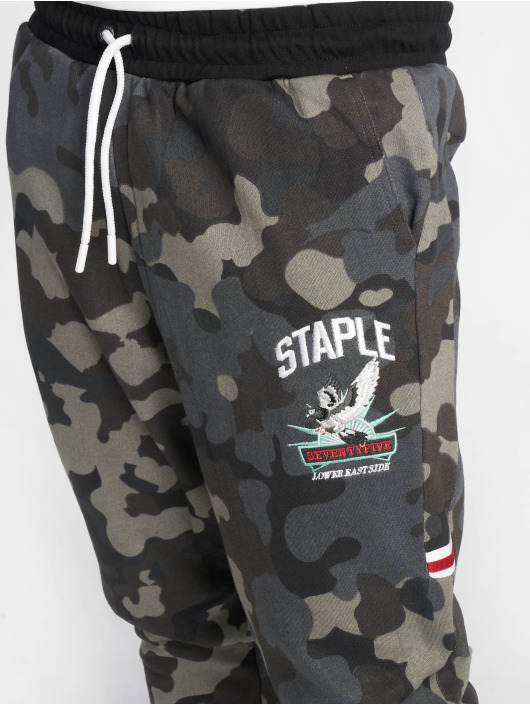 Staple Pigeon joggingbroek Camou zwart