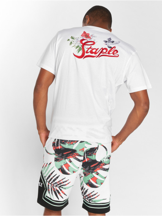 Staple Pigeon T-Shirt Botanica Paradise white
