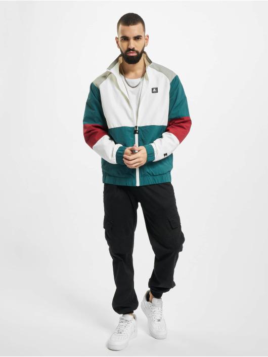 Starter Демисезонная куртка Color Block Retro зеленый