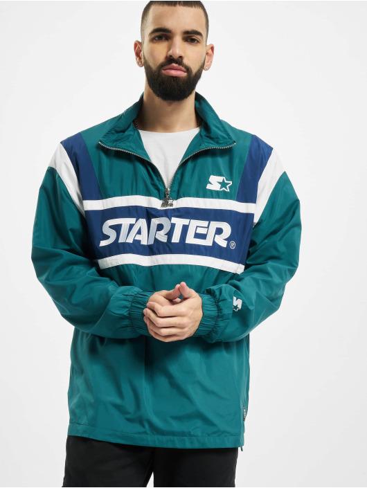 Starter Демисезонная куртка Half Zip Retro зеленый