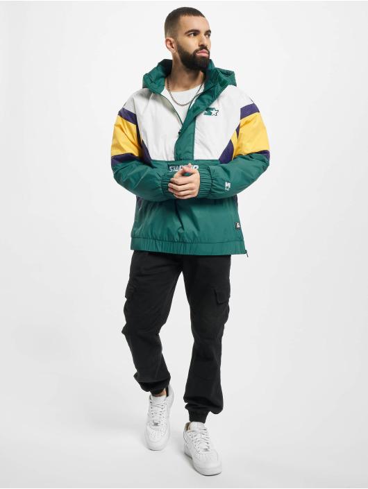 Starter Демисезонная куртка Color Block Half Zip Retro зеленый