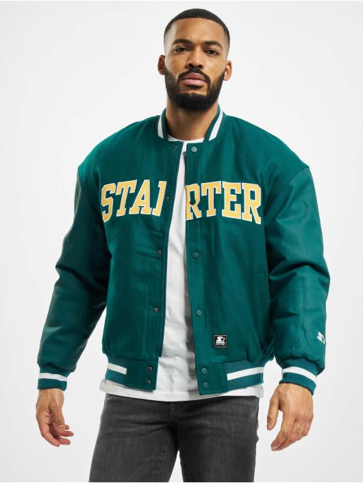Starter Университетская куртка Team Jacket зеленый