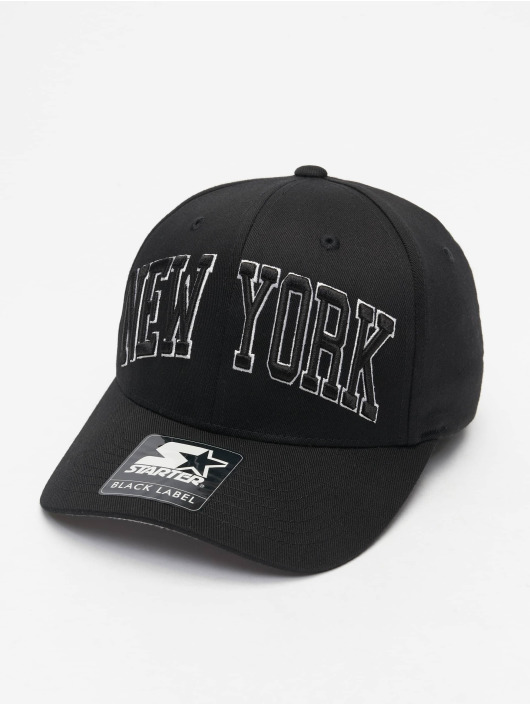 Starter Flexfitted Cap New York schwarz