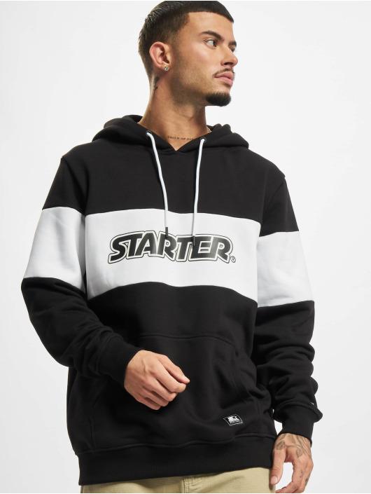 Starter Hoodies Block čern