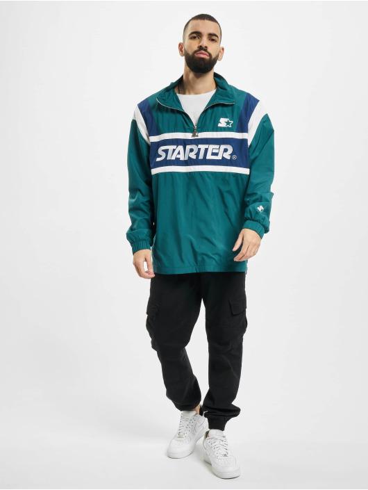 Starter Lightweight Jacket Half Zip Retro green