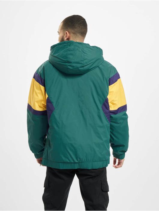 Starter Övergångsjackor Color Block Half Zip Retro grön