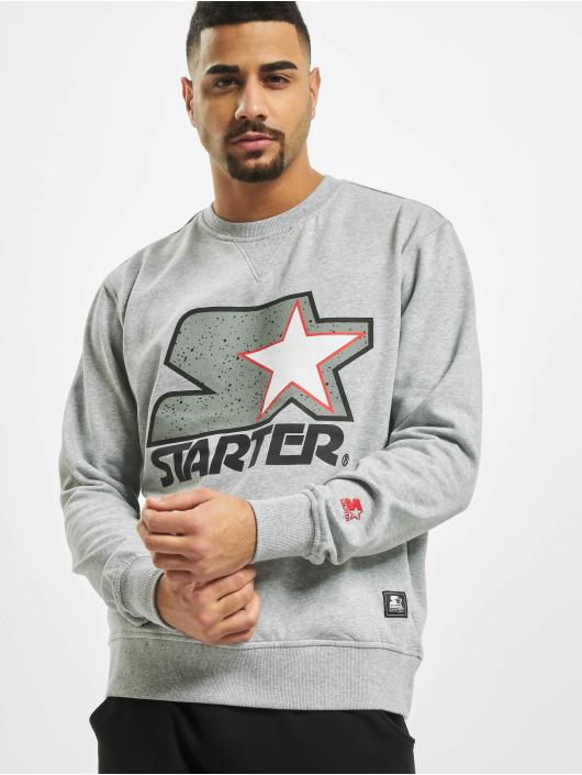Starter Pullover Multicolored Logo grau