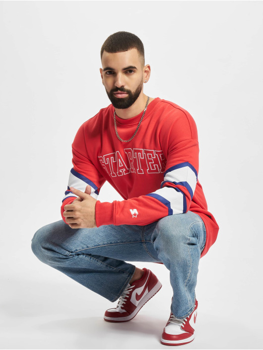Starter Pullover Team Front red