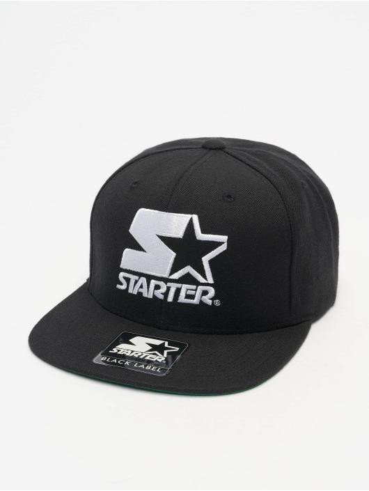 Starter Snapback Cap Logo schwarz