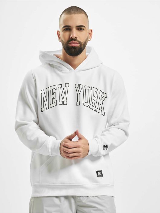 Starter Sweat capuche New York blanc