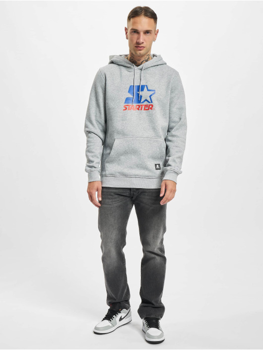 Starter Sweat capuche Two Color Logo gris