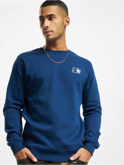 Starter Swetry Small Logo Crew niebieski