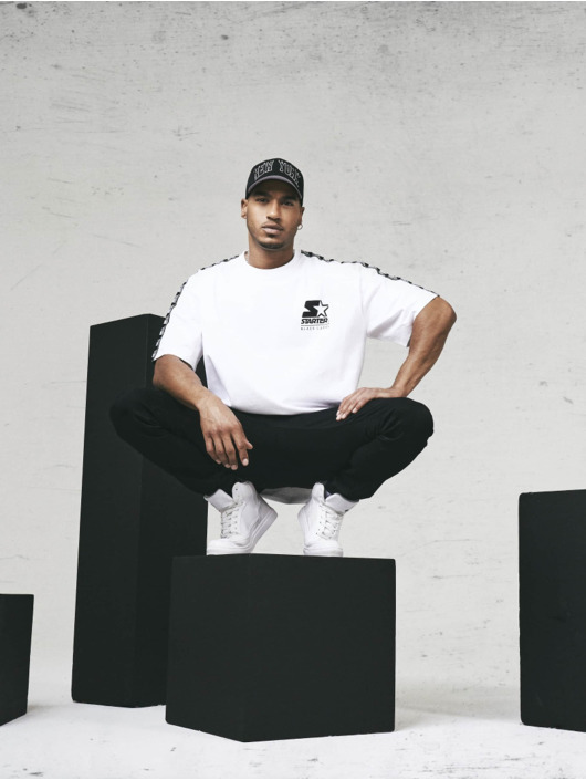 Starter T-shirt Logo Taped bianco