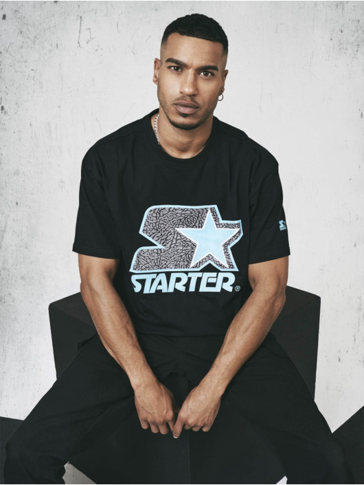 Starter T-shirt Multicolored Logo nero