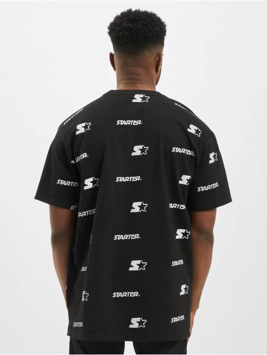 Starter T-shirt Logo All Over Print svart