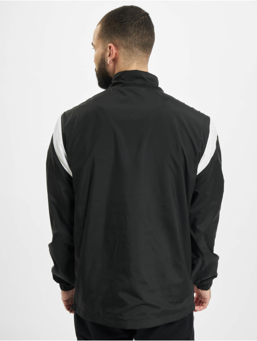 Starter Übergangsjacke Half Zip Retro schwarz
