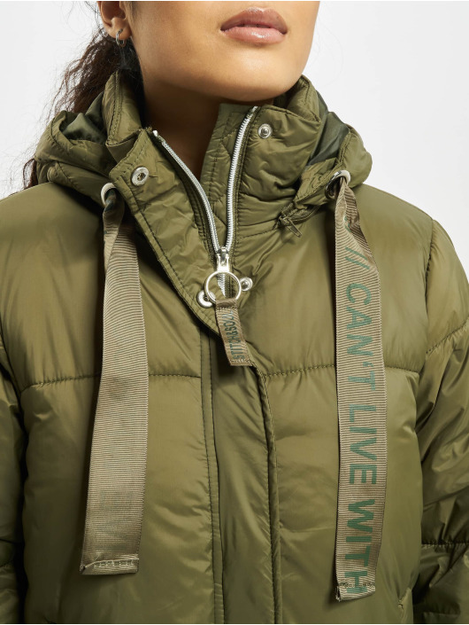Stitch & Soul Стеганая куртка Cant Live зеленый
