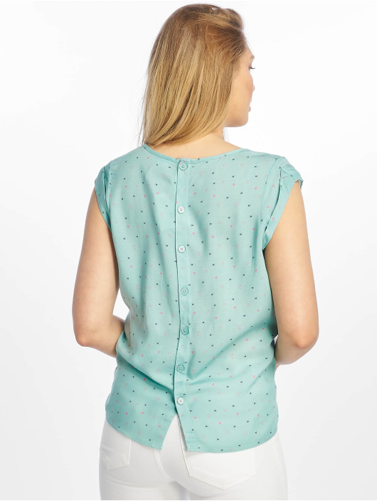 Stitch & Soul Bluse All-Over türkis