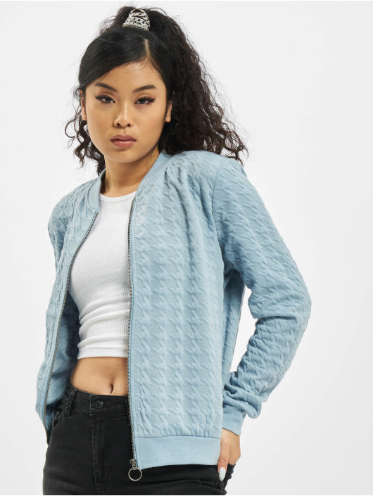 Stitch & Soul Bomber jacket Embossing blue