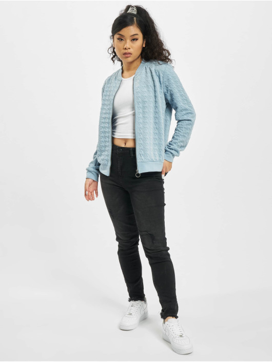 Stitch & Soul Giubbotto Bomber Embossing blu