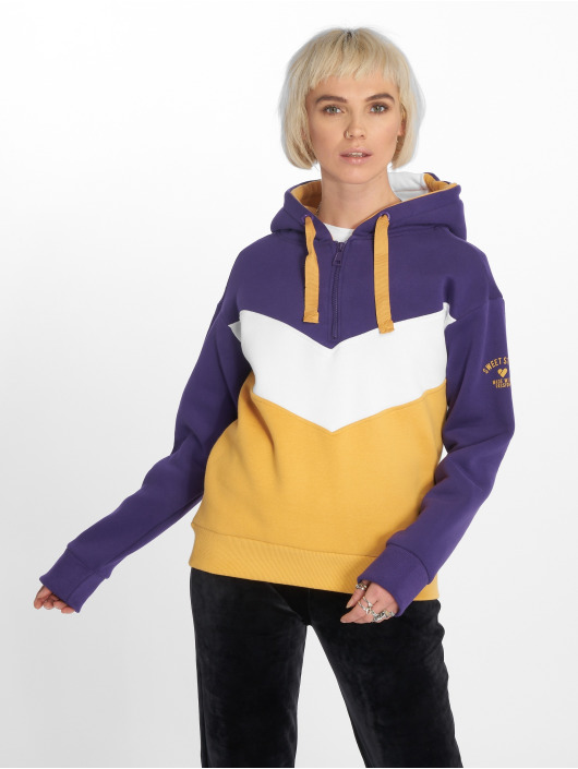 Stitch & Soul Hoody Colour Block paars