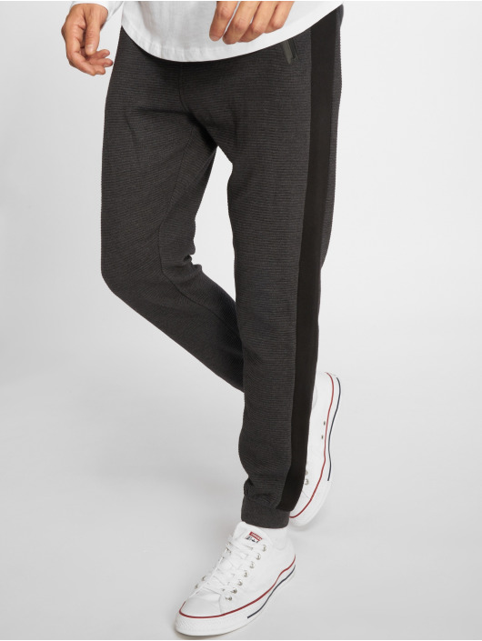 Stitch & Soul joggingbroek Ribbed grijs