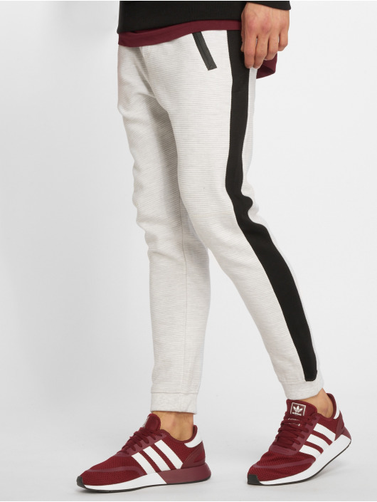 Stitch & Soul joggingbroek Ribbed Sweat grijs