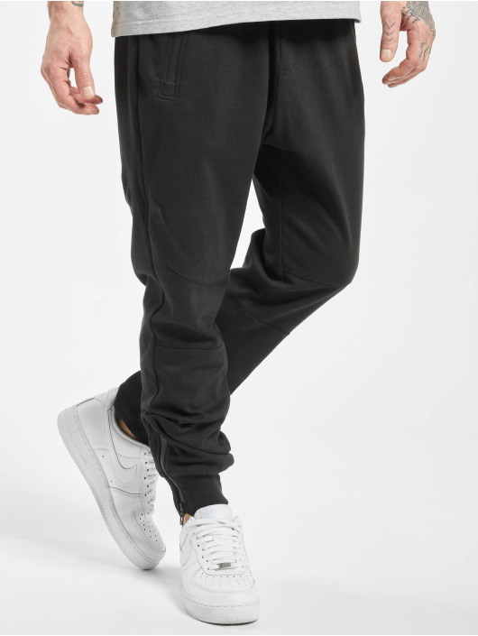 Stitch & Soul Jogginghose Ribbed Knee schwarz