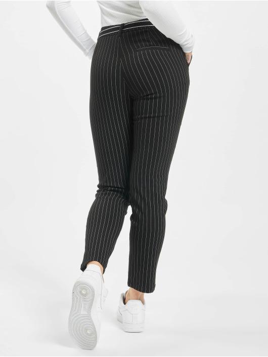 Stitch & Soul Látkové kalhoty Pinstripe čern