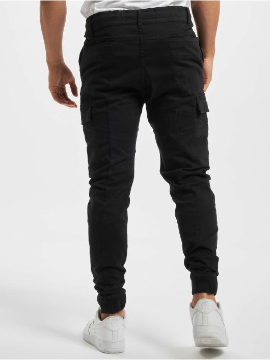 Stitch & Soul Látkové kalhoty Griffin čern