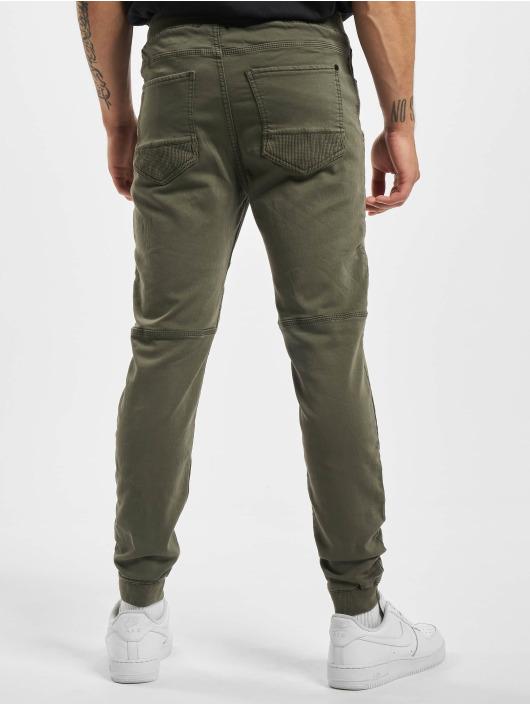 Stitch & Soul Látkové kalhoty Panel zelený