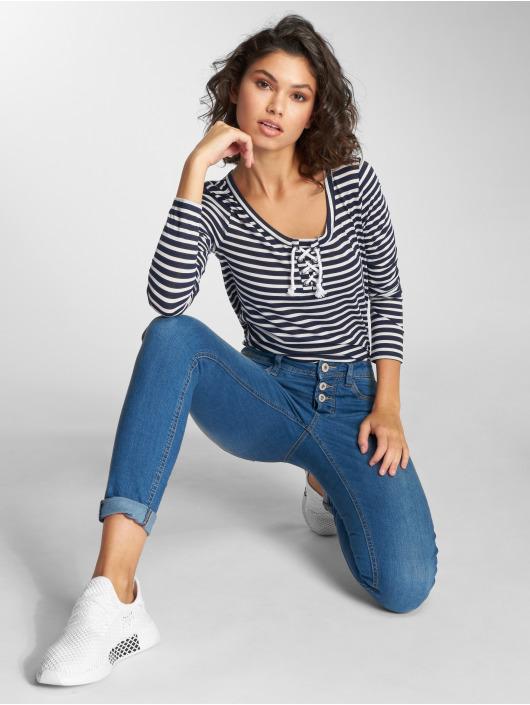 Stitch & Soul Longsleeve Stripes white