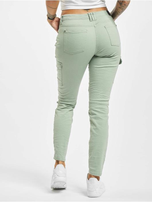 Stitch & Soul Pantalon cargo Magda vert