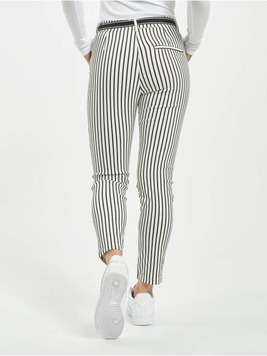 Stitch & Soul Pantalon chino Pinstripe blanc