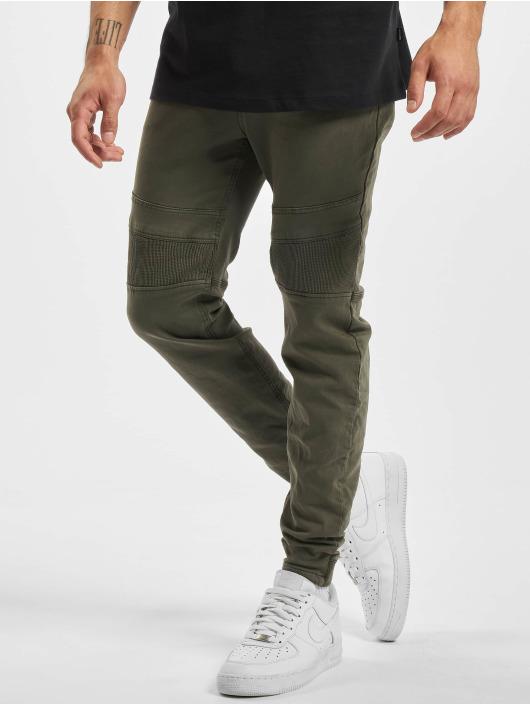 Stitch & Soul Pantalon chino Panel vert