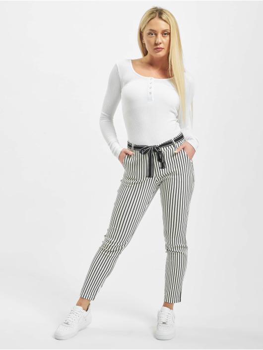 Stitch & Soul Pantalone chino Pinstripe bianco