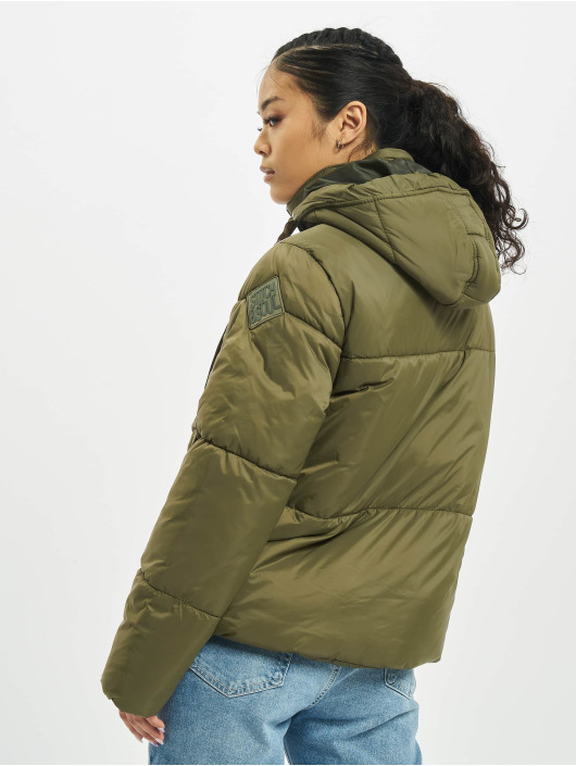 Stitch & Soul Puffer Jacket Cant Live green