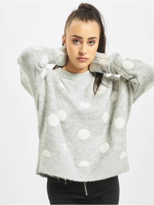 Stitch & Soul Pullover Dots grau