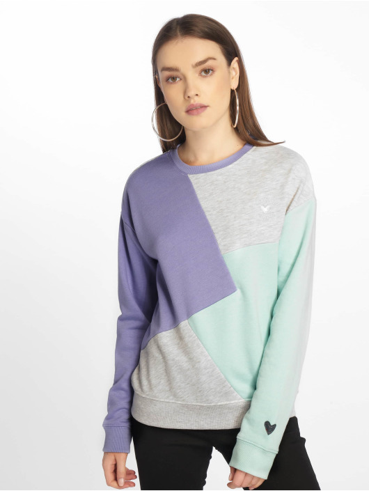 Stitch & Soul Pullover Diagonal violet